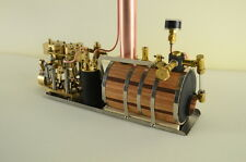 Two-cylinder steam engine Live Steam with Boiler Live Steam
