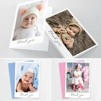 Folded New Baby Thank You Cards Personalised Christening Birthday Girl Boy