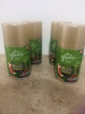 4 New Glade Acoustic Sage Automatic Air Fresheners Limited Edition Spray 6.2 Oz.