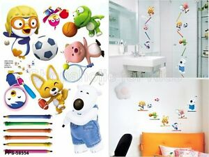 SFK Pororo and Friends Wall Sticker decals kids playroom room interior