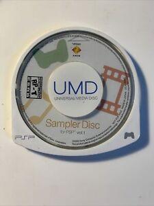 PlayStation Portable PSP Sampler Disc Volume 1 - Disc Only - Tested