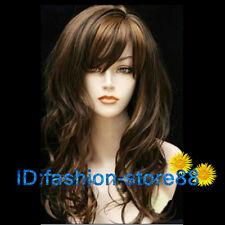 New long brown & black mixed curly cosplay wig/wigs + free wig cap NO:237