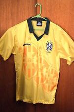 Original 1995 BRASIL NATIONAL TEAM SOCCER JERSEY Large UMBRO  BRAZIL futbol  NOS