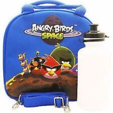 Angry Birds Space Lunch Box Blue Bag with Shoulder Strap and Water Bottle!!