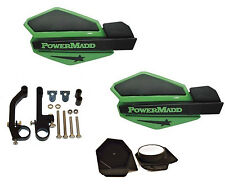 PowerMadd STAR Series Handguard Guards KIT Green Black Snow Mobile Snowmobile