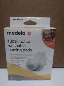 Medela 100% Cotton Washable Nursing Pads (Pack of 4 pads)