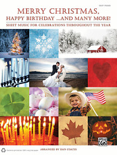 Merry Christmas, Happy Birthday...and Many More!-EASY PIANO MUSIC BOOK-BRAND NEW