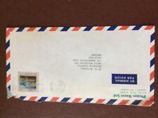 b1u ephemera stamped airmail franked 1983 new zealand 70c phipps rocol ltd auck