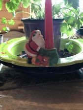Christmas Candle Climber Porcelain Bisque Collectible To Cherish Holder