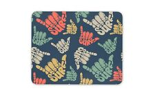 Cool Shaka Surf mano Mouse Mat Pad-Surf Surfista Playa Regalo Pc #8365