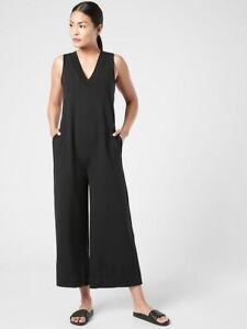 ATHLETA Serenity Jumpsuit XL X-Large | Black Pants #981039 NEW