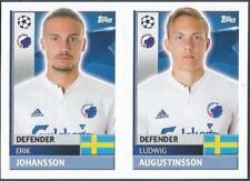 TOPPS CHAMPIONS LEAGUE-2016-17- #QFD05-06-COPENHAGEN-L AUGUSTINSSON/E JOHANSSON