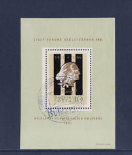 Hongrie  bloc  musique  Liszt  1961  num: BF 39  oblitéré