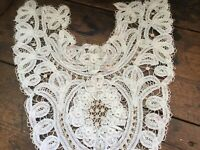 Antique Vintage Victorian Edwardian Lace Collar Ivory in Color
