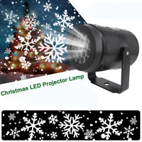 Snow LED Moving Laser Projector Light Snowflake In/Outdoor Lamp Christmas Lights