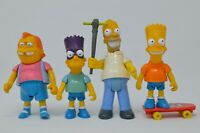 Mattel Simpsons Loose Action Figures, Lot of 4, Homer, Bart, Nelson,Bartman 1990