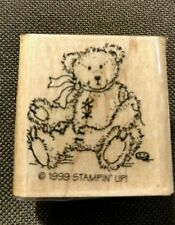 STAMPIN' UP!  1999  RUBBER STAMP  SWEET LITTLE TEDDY BEAR BUTTON FELL OFF