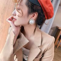 Fashion 1 Pair Women Lady Elegant Pearl Crystal Rhinestone Ear Stud Earrings NEW