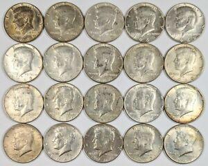 Lot of 20 Kennedy Half Dollars 40% Silver 190407B