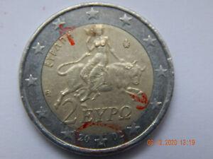 2 Euro Münze - Griechenland - 2002 - Sonderprägung S (Finnland) mit Fehlprägung
