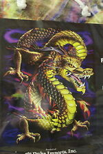 AURORA DRAGON FANTASY MYTHICAL QUEEN SIZE BLANKET BEDSPREAD