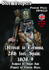 Stormtroopers bust 28th Foot Retreat to Corunna 1809 Unpainted kit 1/9th