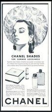 1941 Chanel Glamour face powder lipstick talc Eau de Cologne vintage print ad