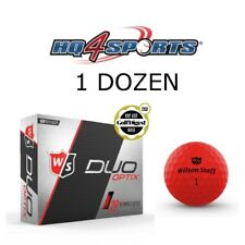2018 Wilson Staff Duo Soft Optix Red Dawn Golf Balls - Matte Red 1 Dozen