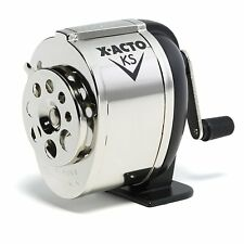 Desktop Pencil Sharpener School Hand Crank Boston Manual Table Wall Mount Chrome