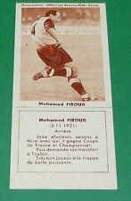FOOTBALL BISCUITS REM 1958 MOHAMED FIROUD SC TOULON AGEDUCATIFS PANINI