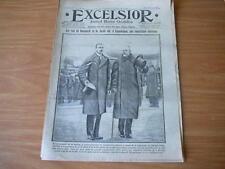 journal Excelsior 06 02 1917 les rois du Danemark et de la Suède  14-18