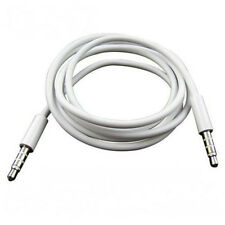 """40"""" 3.5mm White Auxiliary Aux Cable For iPad iPhone 3G 4 4S iPod mini Car Out"""