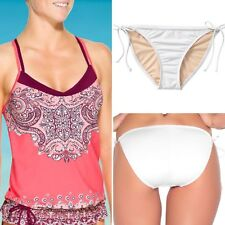 Athleta Nosara Asana Blousy Tankini Top XXS 2XS String Bikini Bottom SMALL White