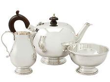 Sterling Silver Bachelor Three Piece Tea Set - George I Style - Vintage 1988