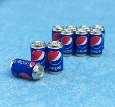 Set 10pcs Pepsi can Drinks Beverages dollhouse miniatures supply