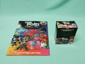 Topps Trolls World Tour Sticker Sammelalbum + 1 x Display / 30 Tüten