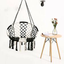 Home Hammock Chair Macrame Swing, 265lbs Capacity Perfect For Indoor/Outdoor