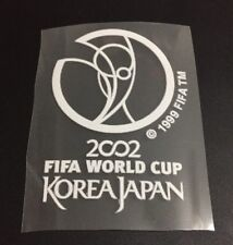 World Cup 2002 Korea Japan Iron On Print Patch Badge Soccer Shirt Jersey white