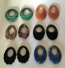 Assortment of natural stone loops for earrings