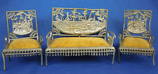 Antique Dollhouse Furniture Columbian Expo 1893 Adrian Cooke Metal Settee Chair