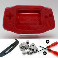 Nuevo Rojo Nintendo Game Boy Advance Gba Carcasa (Case/Shell/vivienda) Kit Completo