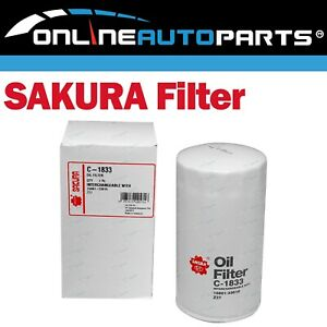 Sakura Engine Oil Filter C-1833 Interchangeable with Ryco Z37
