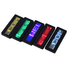 LED Programmable Scrolling Name Message Badge Tag Digital Display English HS