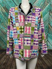 Koos Of Course! Women's Reversible Jacket Coat Medium Black Patchwork Linen NWT