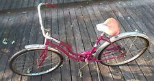 1969 SCHWINN HOLLYWOOD LADIES BEACH CRUISER BIKE VINTAGE MAGENTA PURPLE BICYCLE!
