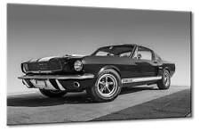Leinwand Bild Ford Mustang GT 350 Schwarzweiß Oldtimer Design Traumauto Kunst