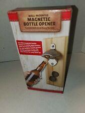 Wall Mounted Magnetic Bottle Opener Beer /Soda Cap Catcher Home Kitchen Bar