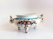 Bassano Italy Pottery Decorative Container Bowl with flower print - No Lid.
