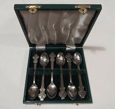 More details for stunning set 6 vintage rolex bucherer watches rose design collectors teaspoons