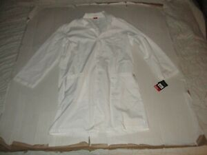 Dickies Everyday Scrubs Unisex 40 Inch Lab Coat Sz L 80403 Science Medical New
